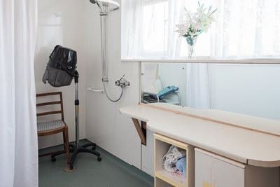 Hairdressing salon at Belgrave Court home for the elderly